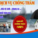 Chuyên dịch vụ chống thấm giá rẻ tại TPHCM