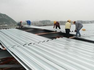 thi công mái tôn lợp mái tôn trọn gói