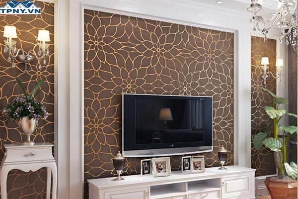 Mẫu giấy dán tường dành cho phòng khách đẹp
