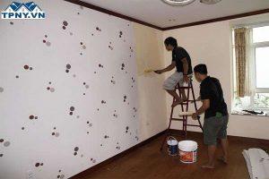 Thi công giấy dán tường