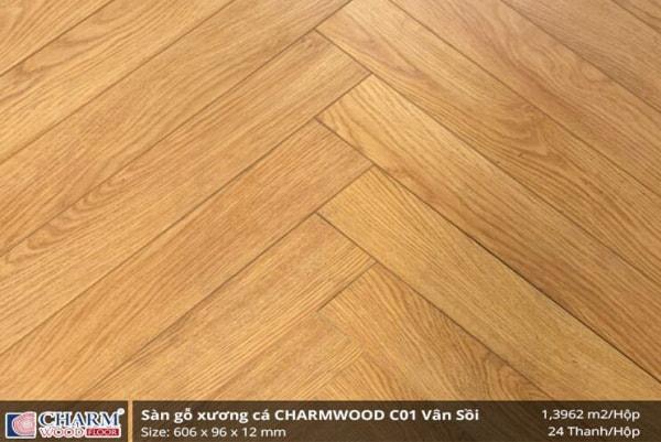 Sàn gỗ công nghiệp Charm Wood C01