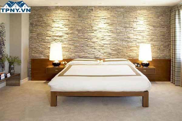 Có nên ốp gạch tường phòng ngủ, phòng khách, nhà bếp
