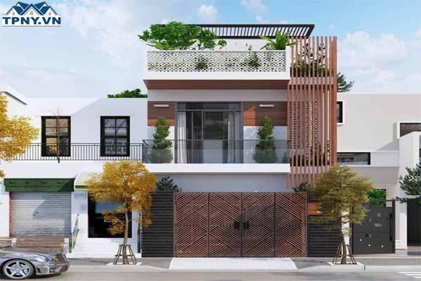 Mẫu nhà 2 tầng 1 tum hiện đại sang trọng và đơn giản