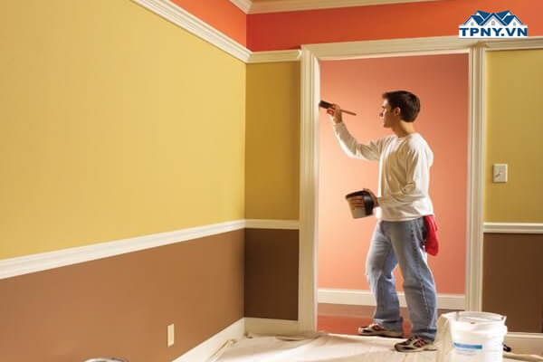 Quy trình sơn lại nhà cũ