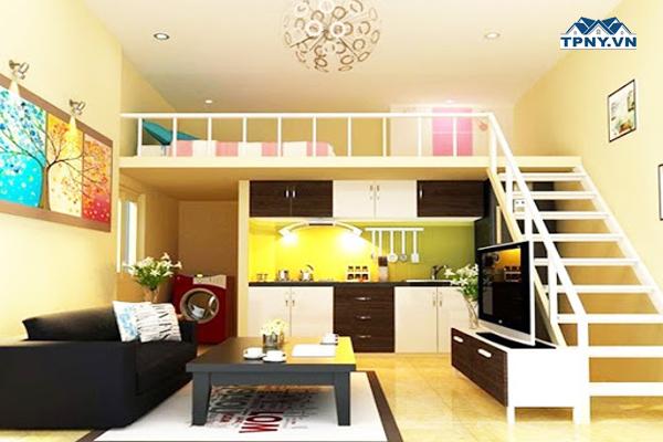 """Căn nhà """"mini"""" nhưng vẫn đầy đủ chức năng nhờ vào tầng lửng tạo phòng ngủ và phòng vệ sinh riêng"""