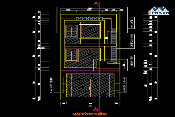 Download bản vẽ cad nhà phố