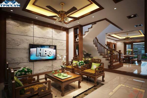 Phòng khách 6m với thiết kế sang trọng