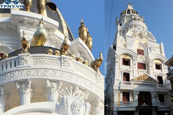 Biệt thự gà dát vàng độc đáo tại Hà Nội