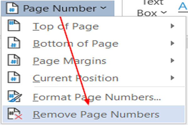 Remove page number