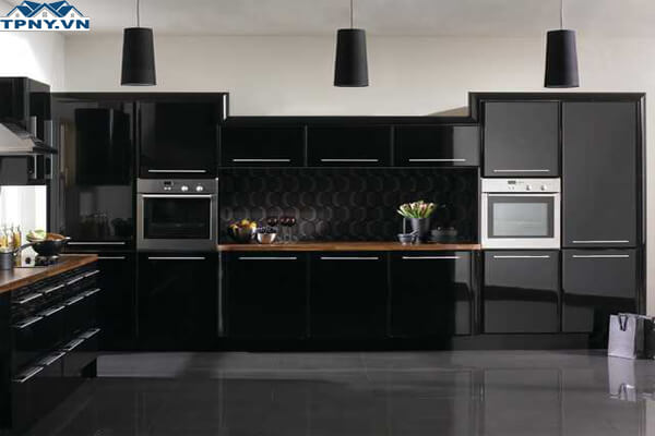 Tủ acrylic màu đen
