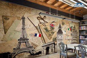 In tranh tường nhà ở, nhà hàng, khách sạn, quán nhậu, quán cafe, trường học...