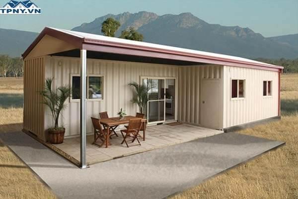 Nhà container cấp 4 thiết kế theo kiểu truyền thống