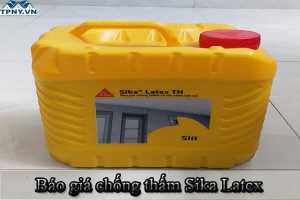 Báo giá chống thấm Sika Latex mới nhất hiện nay