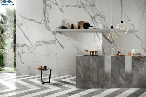 Ốp tường bằng gạch granite đẹp mắt