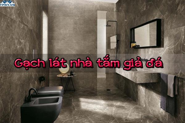 Phòng tắm sang trọng hơn với gạch giả đá
