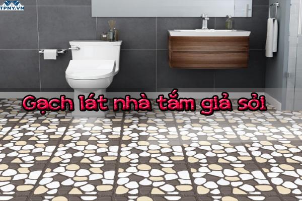 Gạch giả sỏi lát phòng tắm